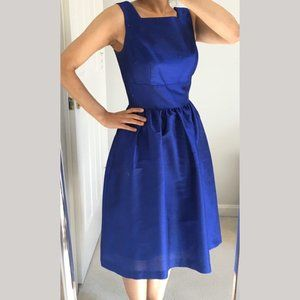 Alfred Sung Cocktail Dress Royal Blue, Size 2